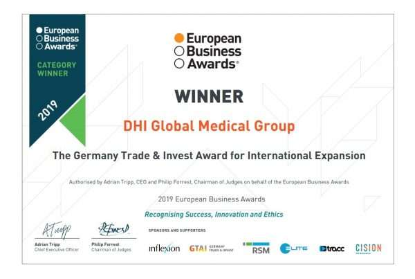 european business awards dhi