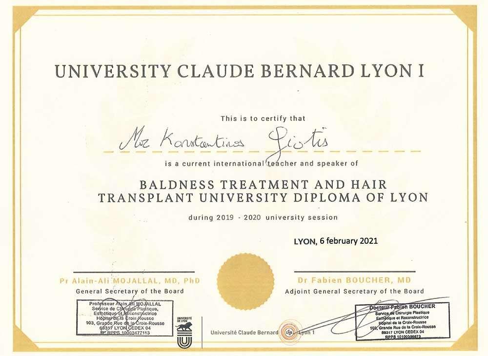 Δίπλωμα από το Πανεπιστήμιο της Λυών στον Ιδρυτή της DHI, Κωνσταντίνο Γιώτη